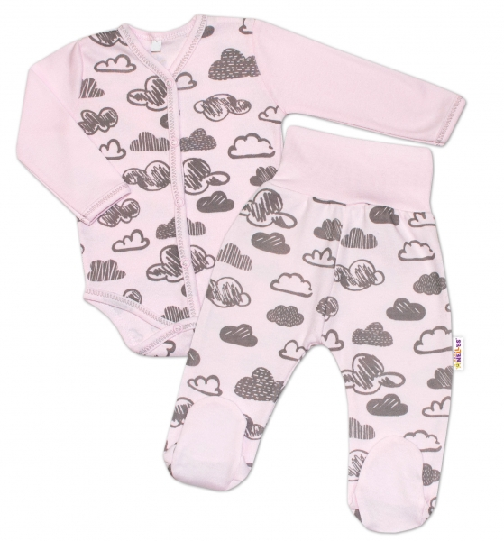 2-dílná kojenecká sada Baby Nellys - Mráčky