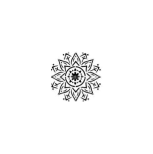 Šablona na malování - mandala