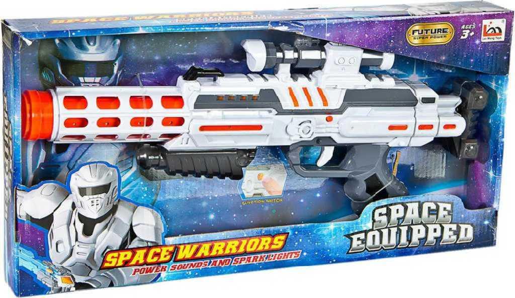 Pistole vesmírná plastová velká na baterie Světlo Zvuk