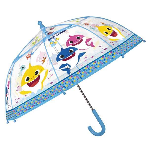 Dětský deštník Perletti Baby Shark - transparentní