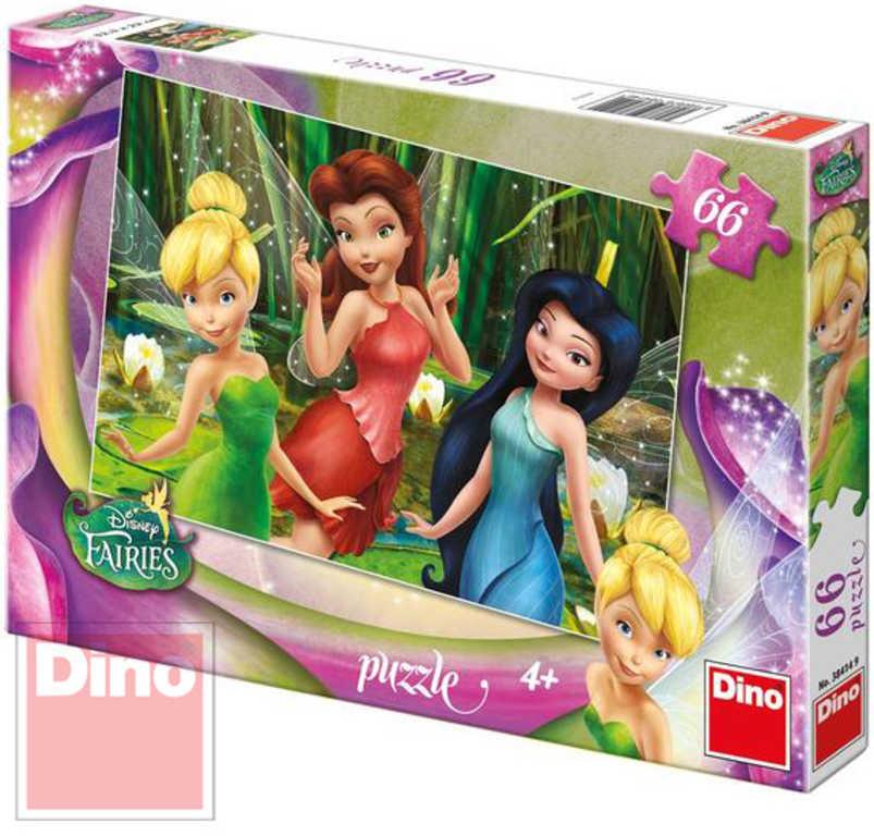 DINO Puzzle Disney Fairies víly Zvonilka 66 dílků v krabici