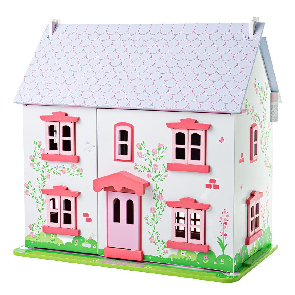 Bigjigs Toys Růžový domek pro panenky poškozený obal