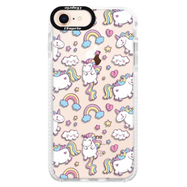 Silikonové pouzdro Bumper iSaprio - Unicorn pattern 02 - iPhone 8