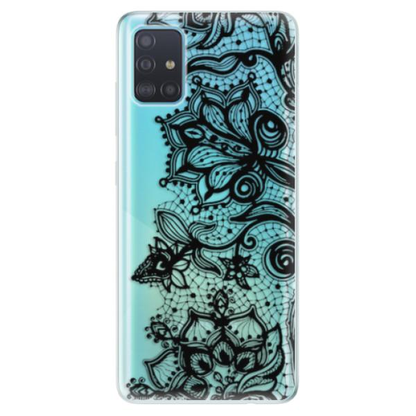 Odolné silikonové pouzdro iSaprio - Black Lace - Samsung Galaxy A51