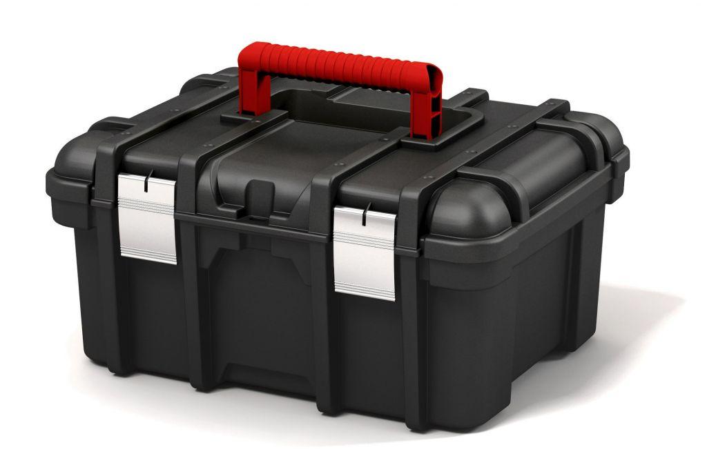 Keter plastový box na nářadí Power - 16 l, černý