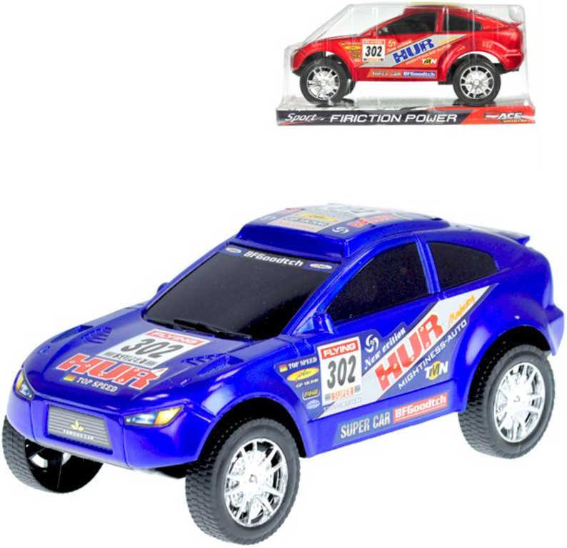 Auto sportovní závodní 21 cm na setrvačník - 2 barvy