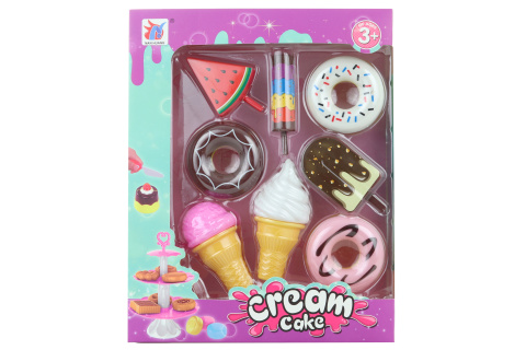 Sada dortíků a zmrzlin