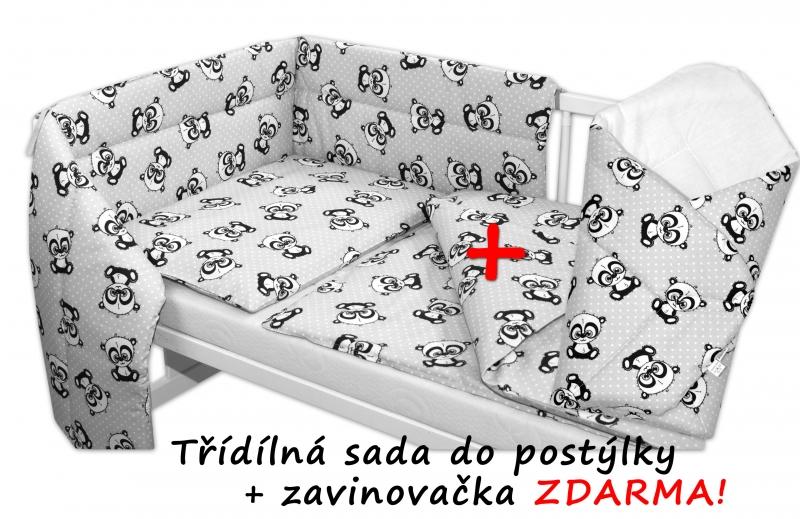 3-dilna-sada-mantinel-s-povlecenim-135x100-zavinovacka-zdarma-baby-panda-seda-135x100