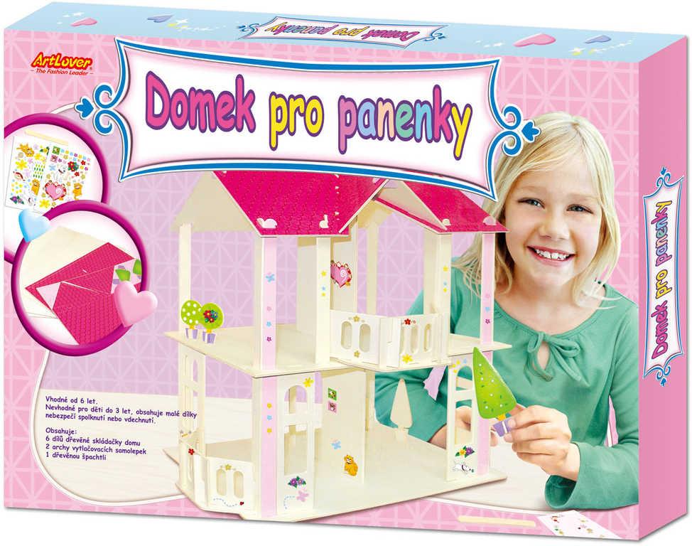DŘEVO Domek pro panenky kreativní set se samolepkami