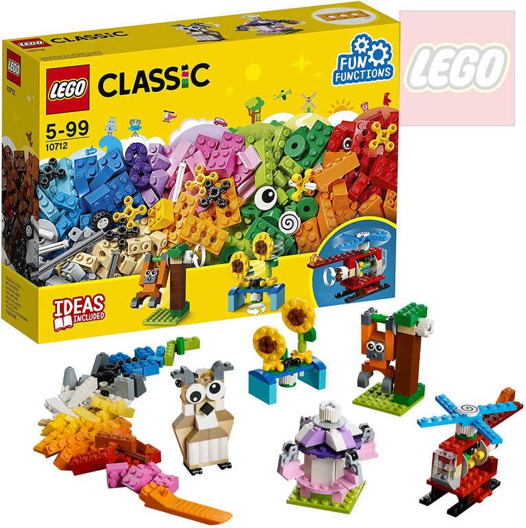 LEGO CLASSIC Kostky a ozubená kolečka STAVEBNICE 10712