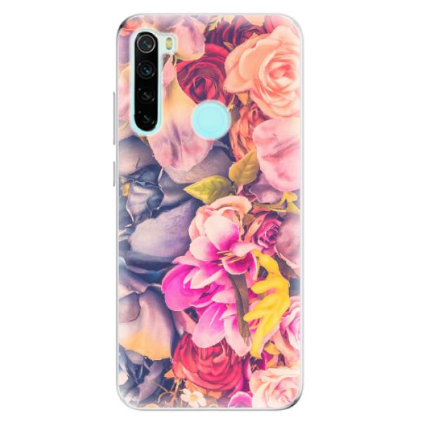 Odolné silikonové pouzdro iSaprio - Beauty Flowers - Xiaomi Redmi Note 8