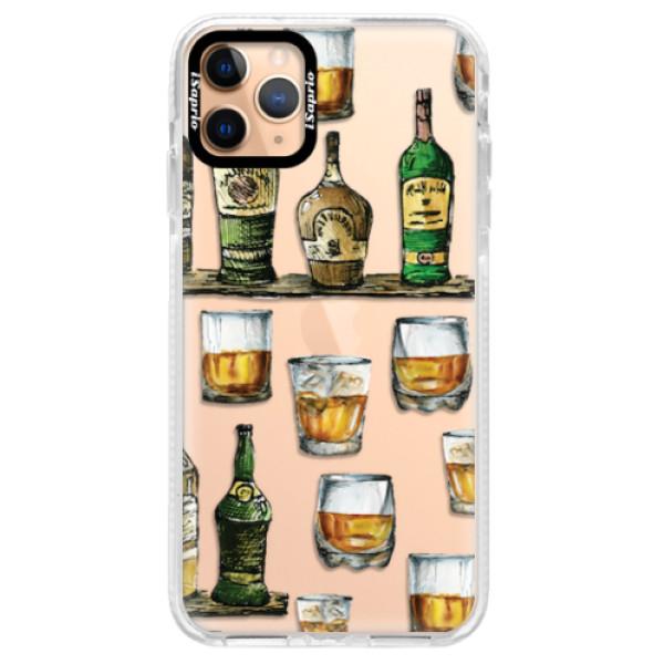 Silikonové pouzdro Bumper iSaprio - Whisky pattern - iPhone 11 Pro Max