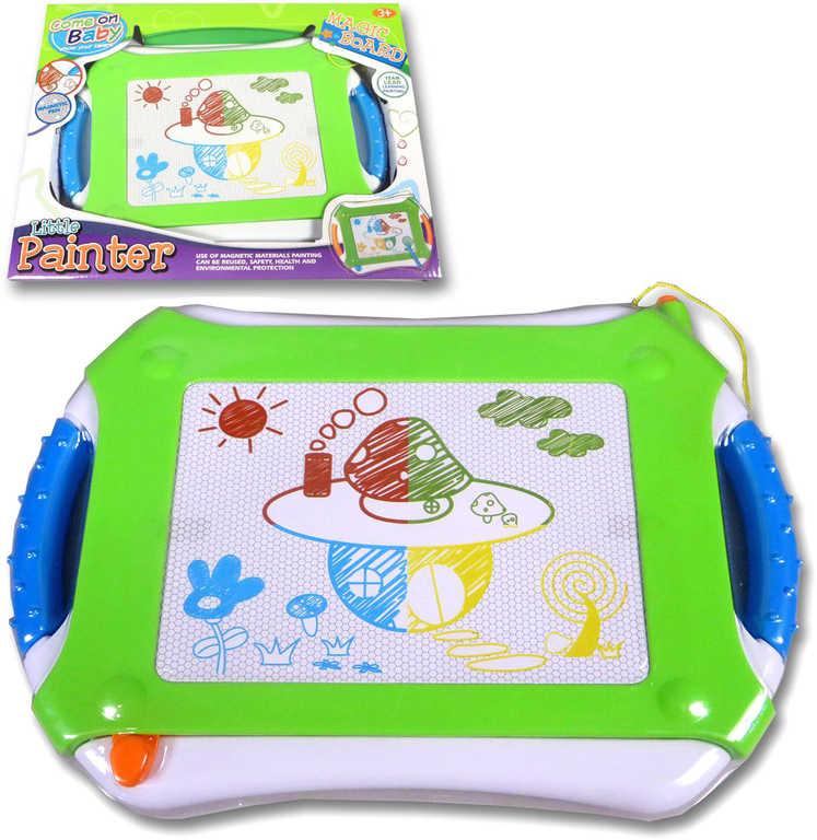 Tabulka dětská magická zelená set s razítky v krabici malý malíř plast