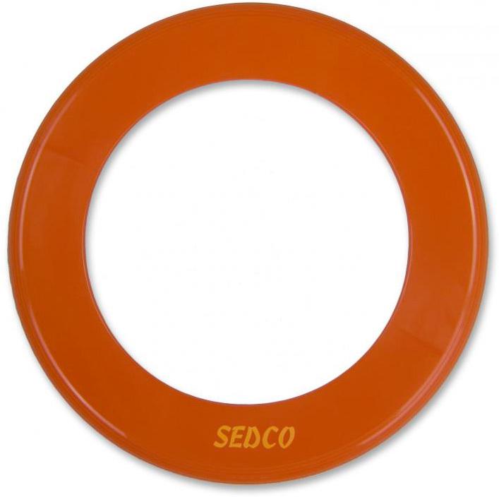 SEDCO Talíř létající 25cm prstenec házecí oranžový plast