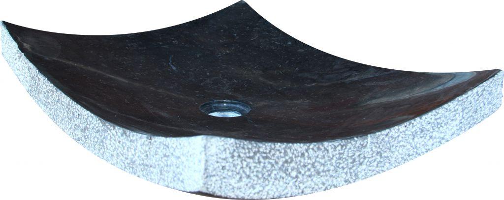 Umyvadlo z přírodního kamene Zen Black