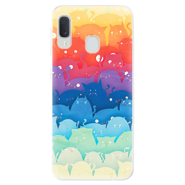 Odolné silikonové pouzdro iSaprio - Cats World - Samsung Galaxy A20e