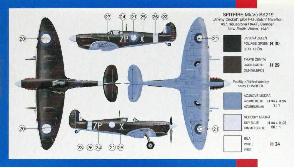 SMĚR Model letadlo Supermarine Spitfir 1:72 (stavebnice letadla)