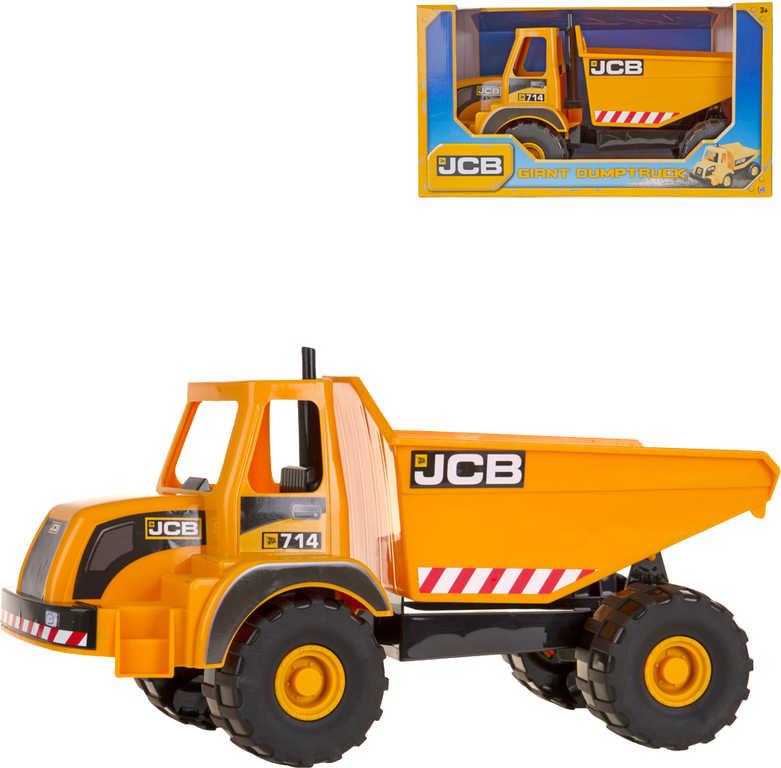Auto stavební JBC sklápěč velký oranžový na písek v krabici