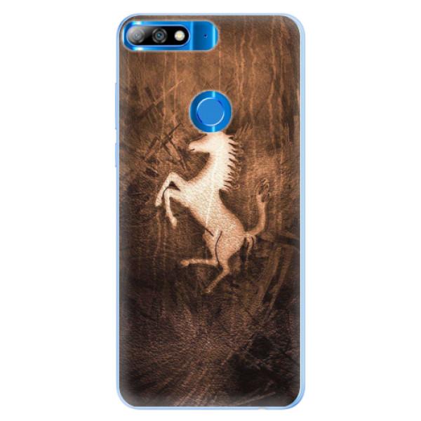 Silikonové pouzdro iSaprio - Vintage Horse - Huawei Y7 Prime 2018