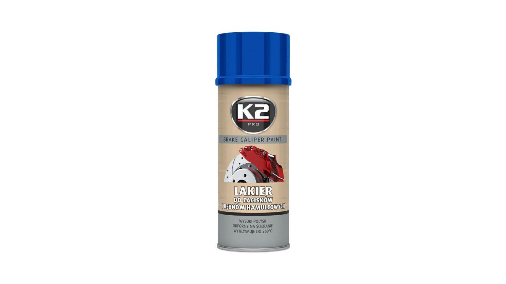 K2 BRAKE CALIPER PAINT 400ml MODRÁ - barva na brzdové třmeny a bubny