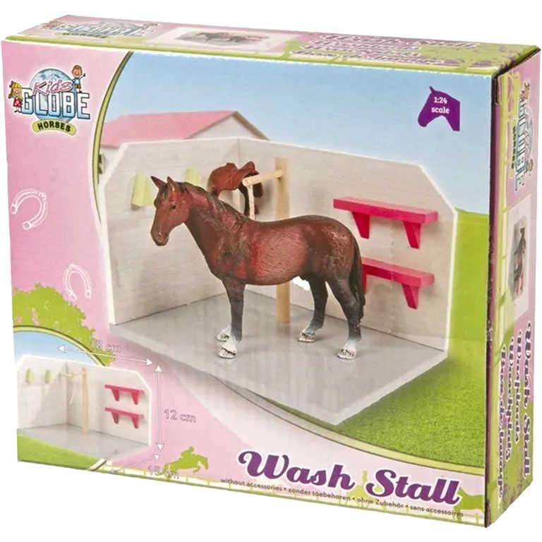 DŘEVO Mycí box pro koně 1:24 herní set malý farmář *DŘEVĚNÉ HRAČKY*