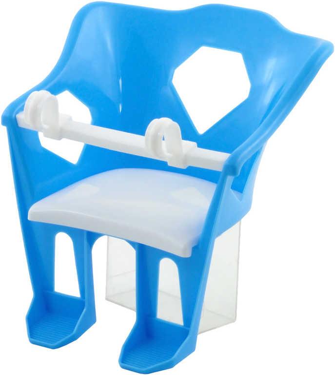 Sedátko pro panenky na kolo plastová sedačka v sáčku 2 barvy