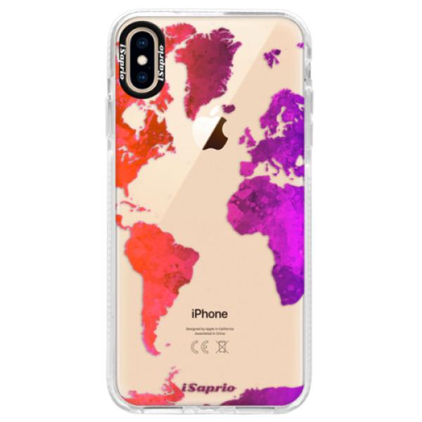Silikonové pouzdro Bumper iSaprio - Warm Map - iPhone XS Max