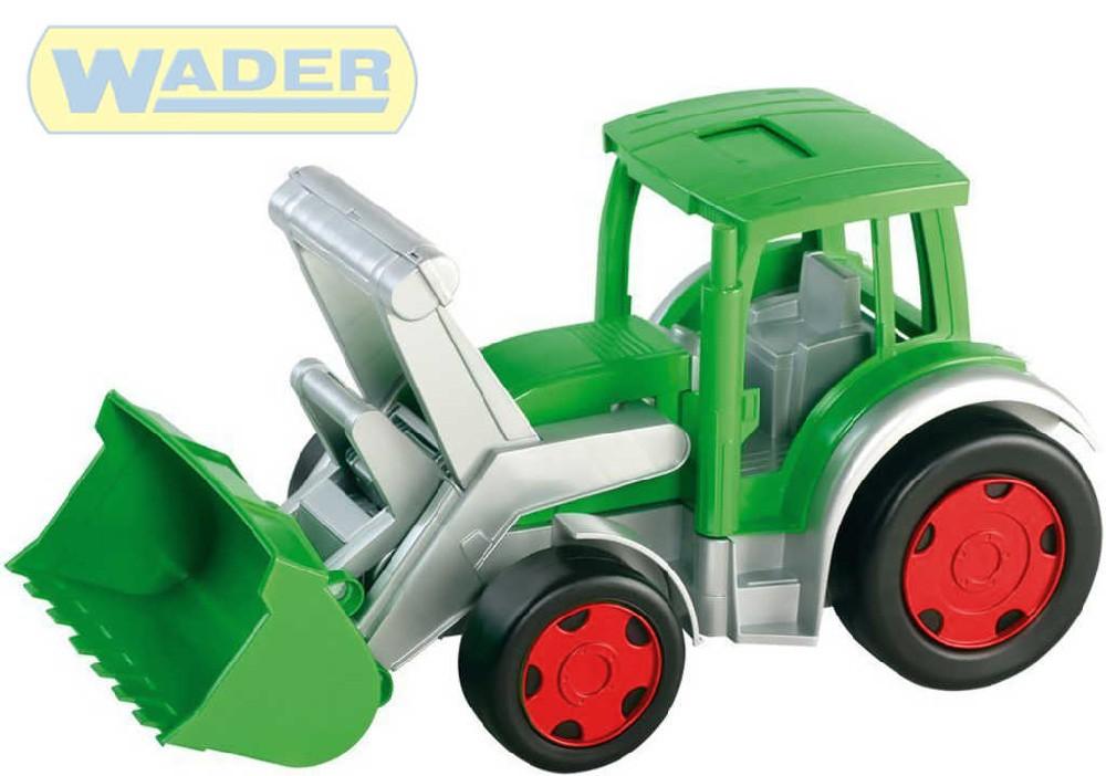 WADER Auto Gigant Truck funkční nakladač Farmer 55cm zelený plast 66015