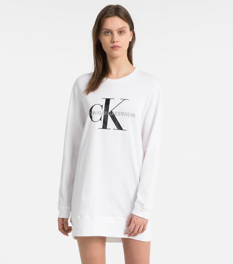Dámská noční košile QS6152E - Calvin Klein - Bílá/M