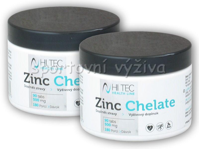 2x Health Line Zinc Chelate 500mg 90 tablet