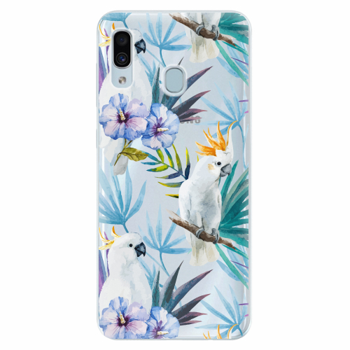 Silikonové pouzdro iSaprio - Parrot Pattern 01 - Samsung Galaxy A30