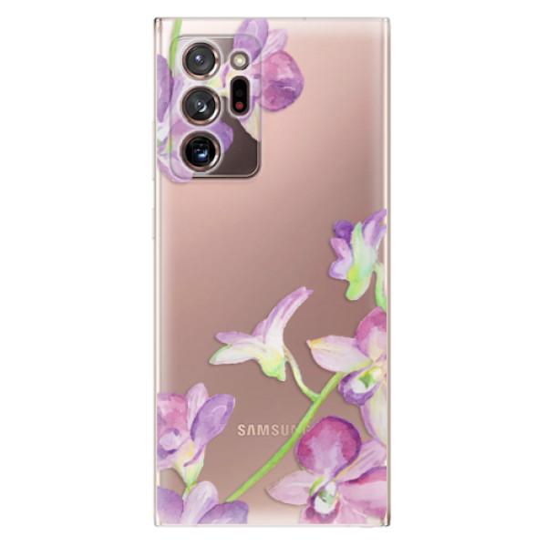 Odolné silikonové pouzdro iSaprio - Purple Orchid - Samsung Galaxy Note 20 Ultra