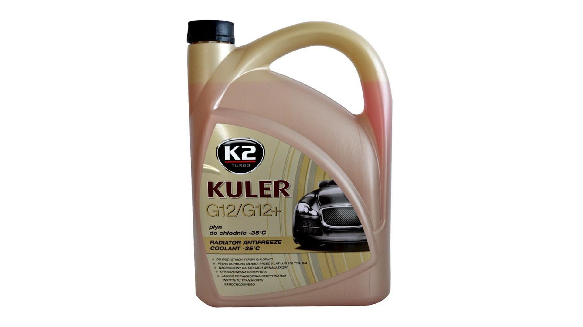 K2 KULER G12/G12+ ČERVENÁ 1l - nemrznoucí kapalina do chladiče do -35 °C