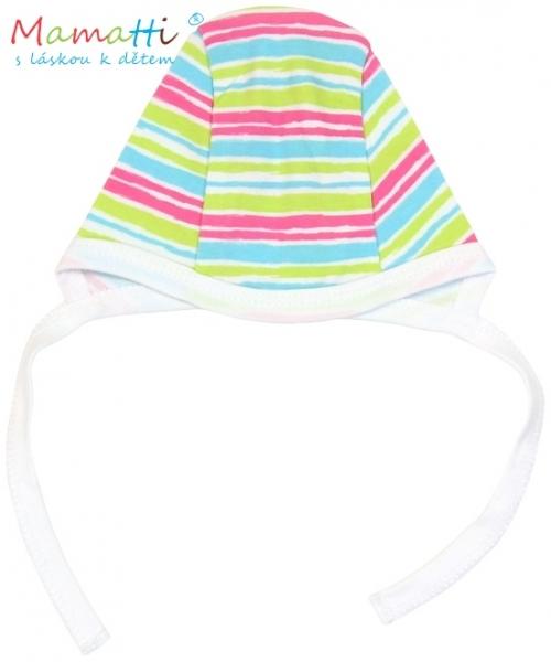 Čepička Mamatti - CAT- barevné proužky