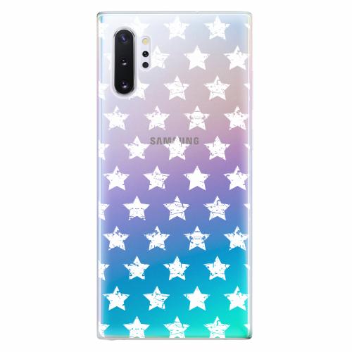 Silikonové pouzdro iSaprio - Stars Pattern - white - Samsung Galaxy Note 10+
