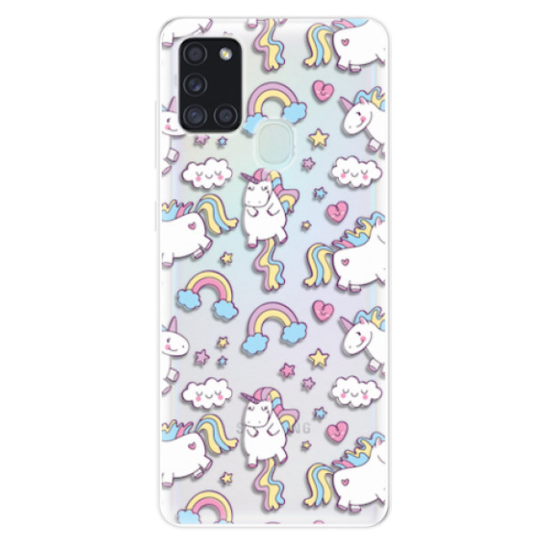 Odolné silikonové pouzdro iSaprio - Unicorn pattern 02 - Samsung Galaxy A21s
