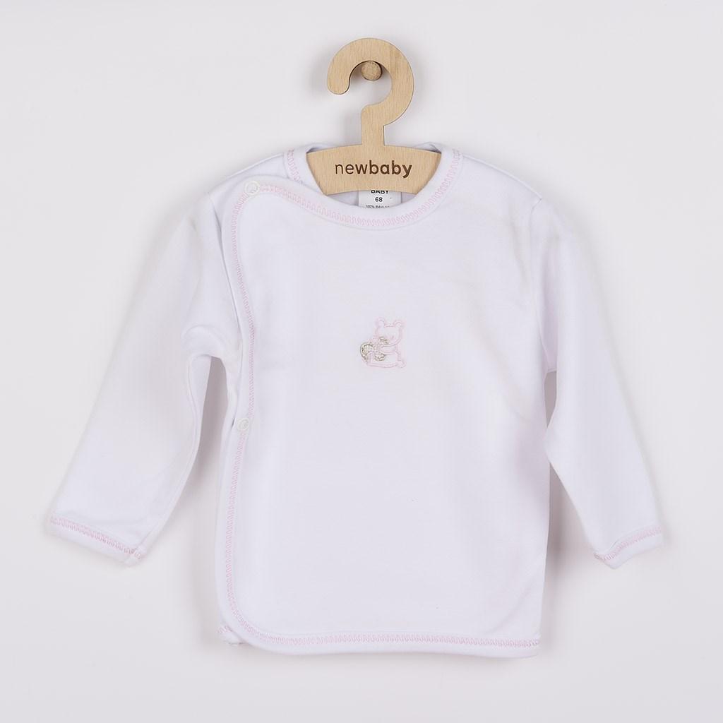 Kojenecká košilka s vyšívaným obrázkem New Baby - růžová/56 (0-3m)
