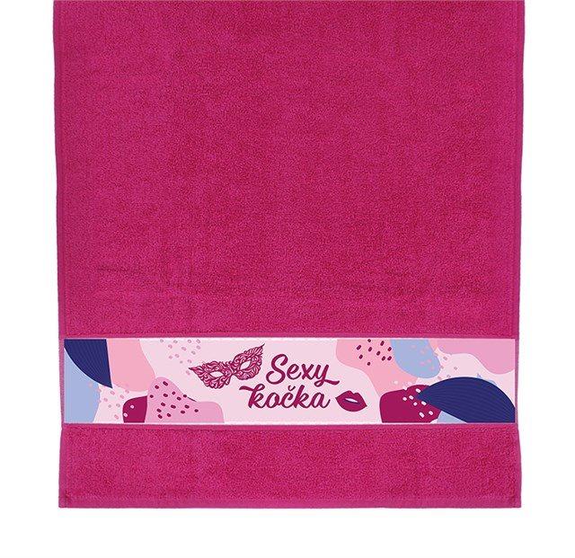 Dárkové ručníky - Ručník - Sexy kočka