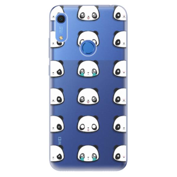 Odolné silikonové pouzdro iSaprio - Panda pattern 01 - Huawei Y6s