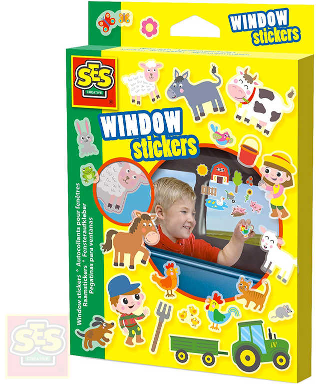 SES CREATIVE Nálepky okenní farma set 26ks dekorace na okno