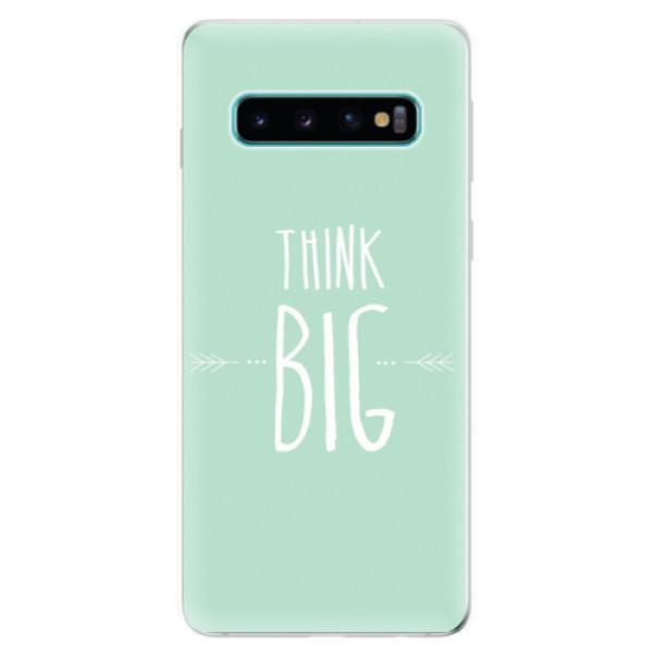 Odolné silikonové pouzdro iSaprio - Think Big - Samsung Galaxy S10
