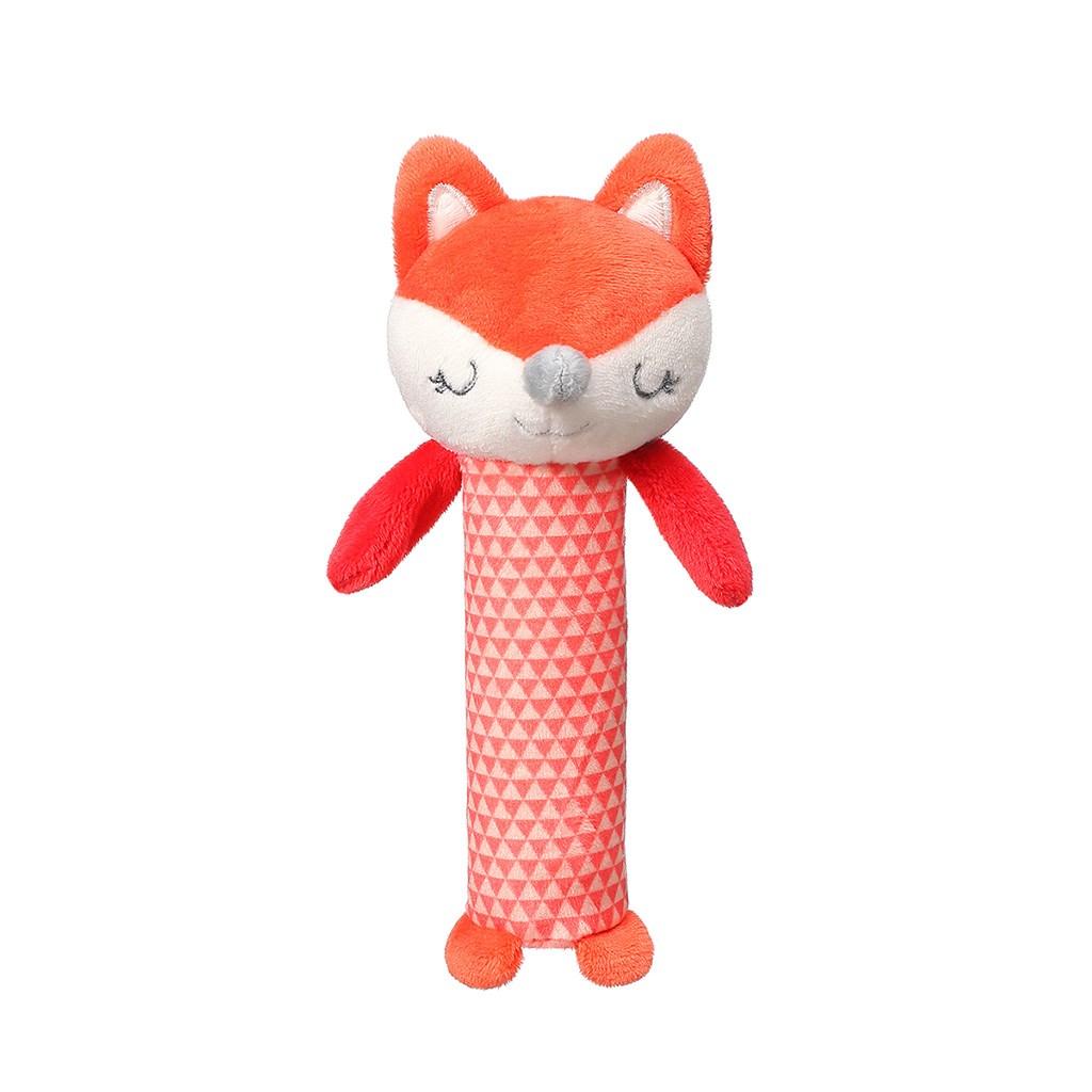 Plyšová pískací hračka Baby Ono - Fox Vincent - červená