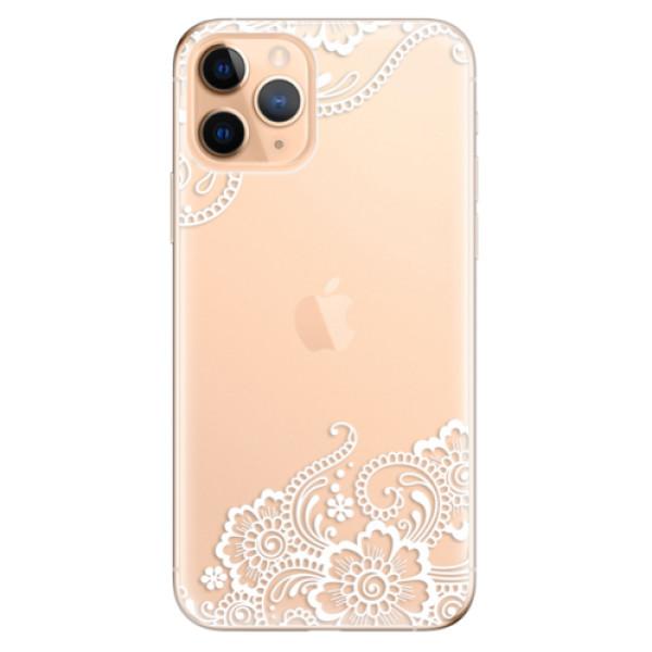 Odolné silikonové pouzdro iSaprio - White Lace 02 - iPhone 11 Pro
