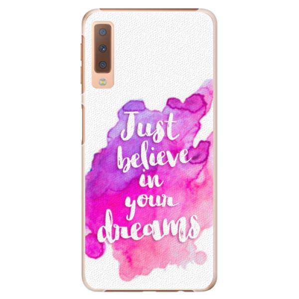 Plastové pouzdro iSaprio - Believe - Samsung Galaxy A7 (2018)