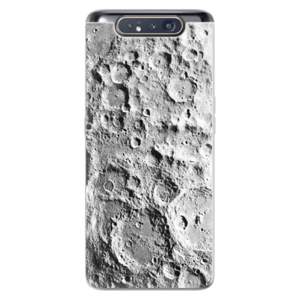Odolné silikonové pouzdro iSaprio - Moon Surface - Samsung Galaxy A80