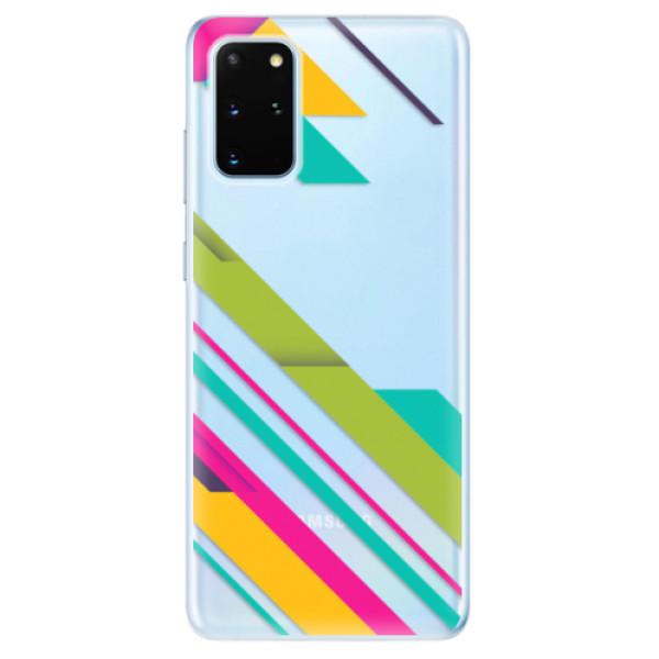 Odolné silikonové pouzdro iSaprio - Color Stripes 03 - Samsung Galaxy S20+