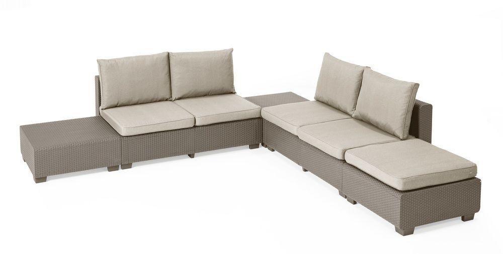 Zahradní sedací set - cappucino + pískové podušky