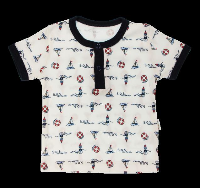 Bavlněné Polo tričko Mamatti Maják krátký rukáv