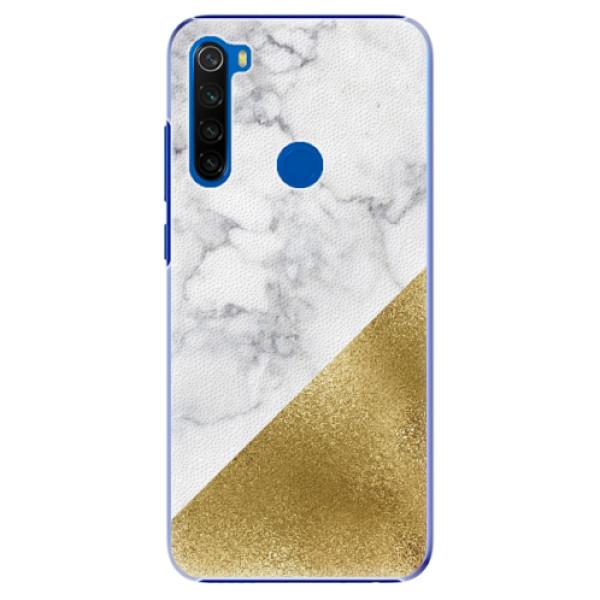 Plastové pouzdro iSaprio - Gold and WH Marble - Xiaomi Redmi Note 8T