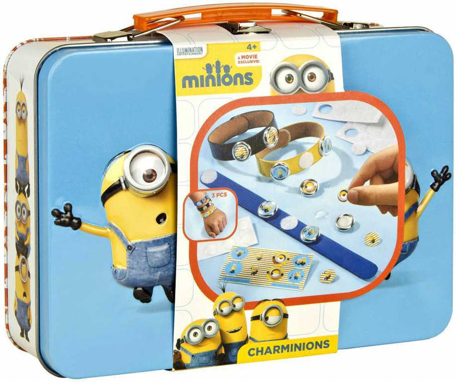 OLYMPTOY Mimoni (Minions) plechový kufřík kreativní set s magnety a samolepkami